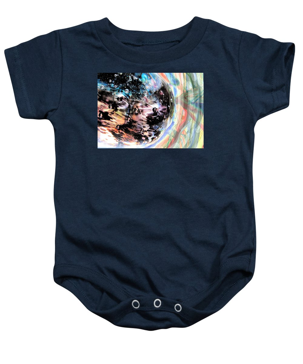 Abstract Baby Onesie featuring the digital art Speeding There by Ian MacDonald