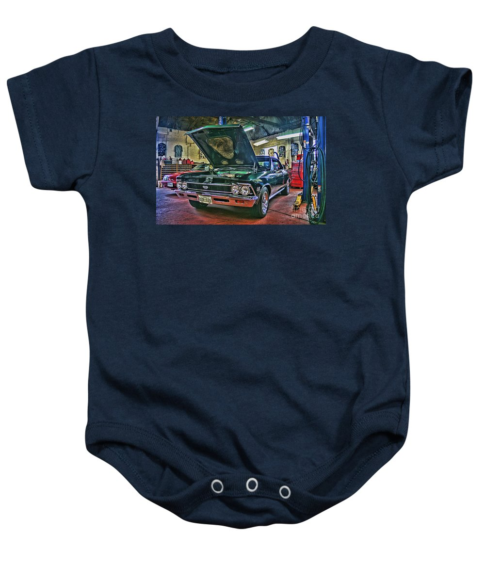 Cars Baby Onesie featuring the photograph Ss In The Shop Hdr by Randy Harris