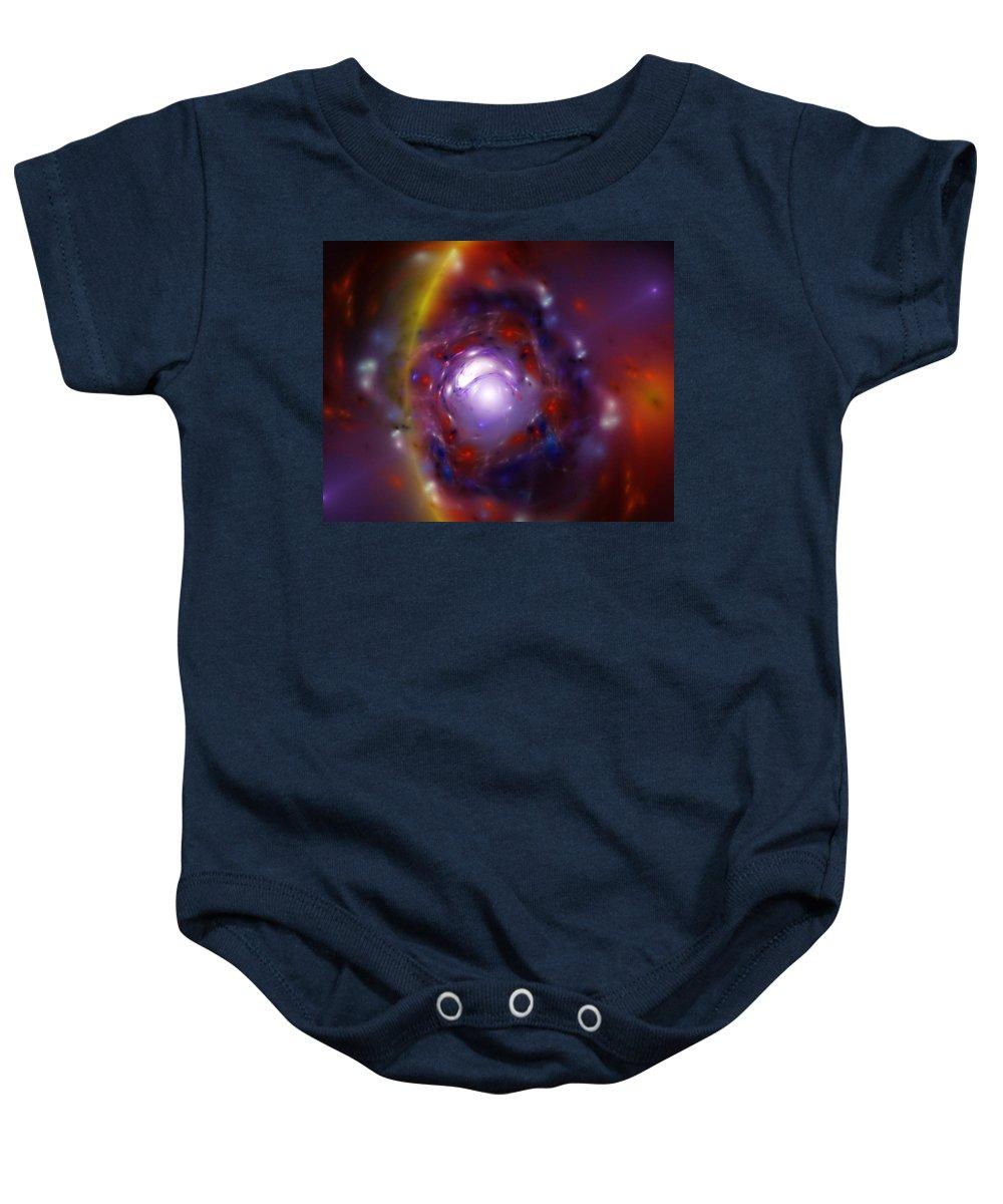 Fine Art Baby Onesie featuring the digital art Stellar Nursery by David Lane