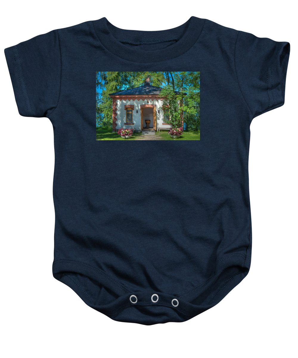 Chapel Baby Onesie featuring the photograph Summer Chapel by Ari Salmela