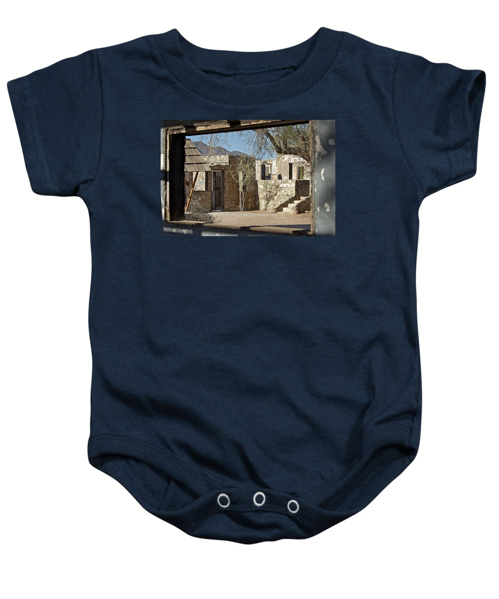 Building Baby Onesie featuring the photograph The Courtyard by Phyllis Denton