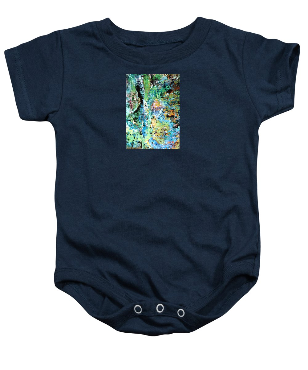 Devi Baby Onesie featuring the painting The Devi by Ishwar Malleret