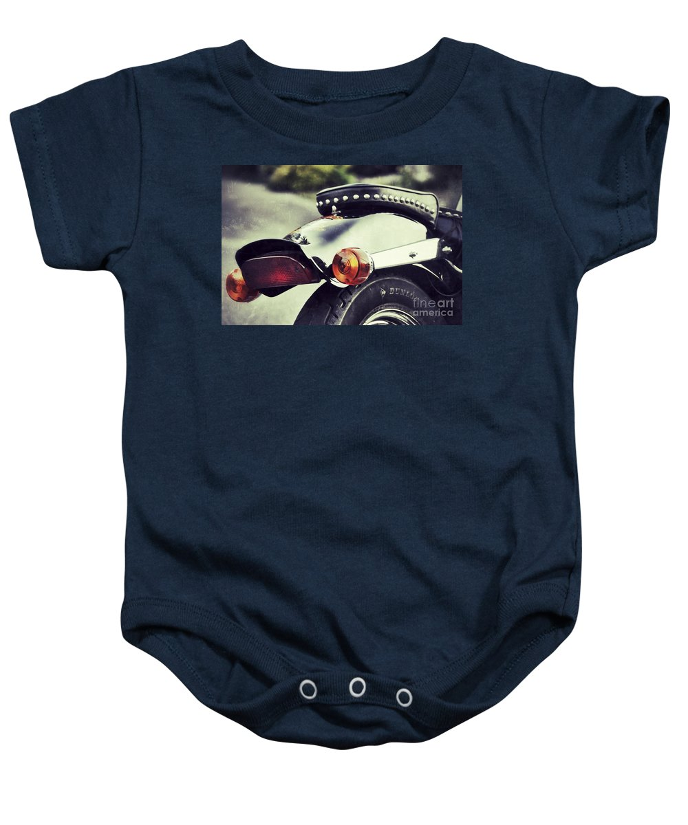 Motorcycle Baby Onesie featuring the photograph The End by Traci Cottingham