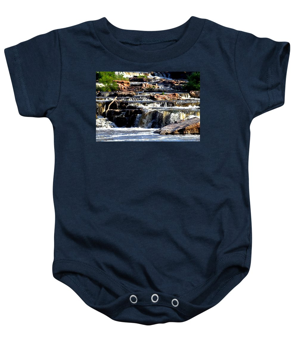 Sioux Falls Baby Onesie featuring the photograph The Falls by Elizabeth Winter