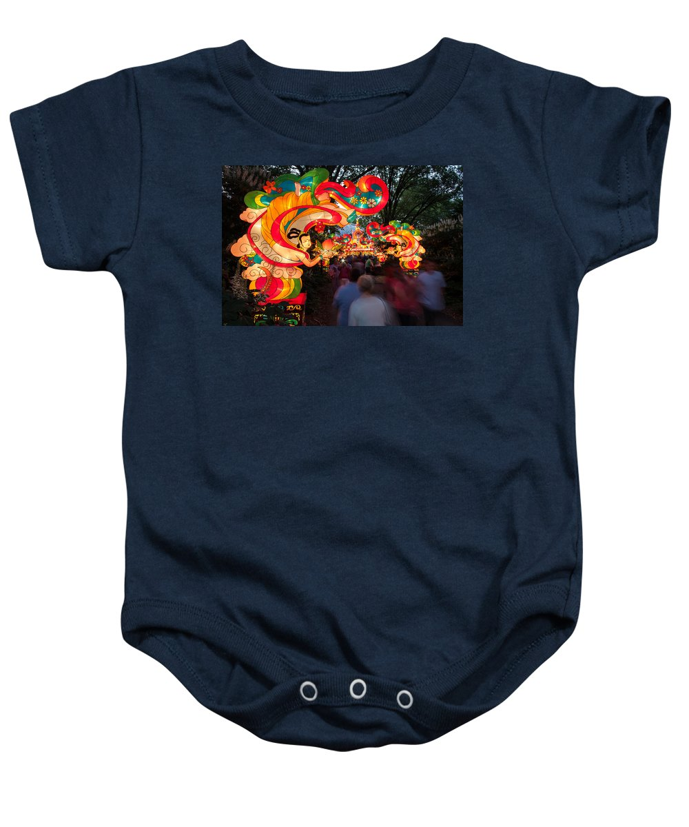 Art Baby Onesie featuring the photograph The Flying Apsaras by Semmick Photo