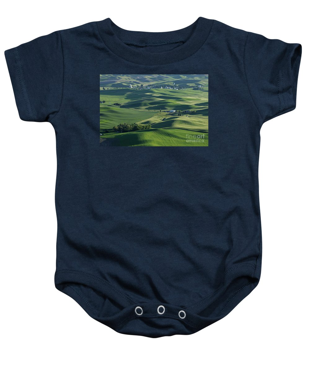 Palouse Baby Onesie featuring the photograph The Palouse 1 by Bob Christopher