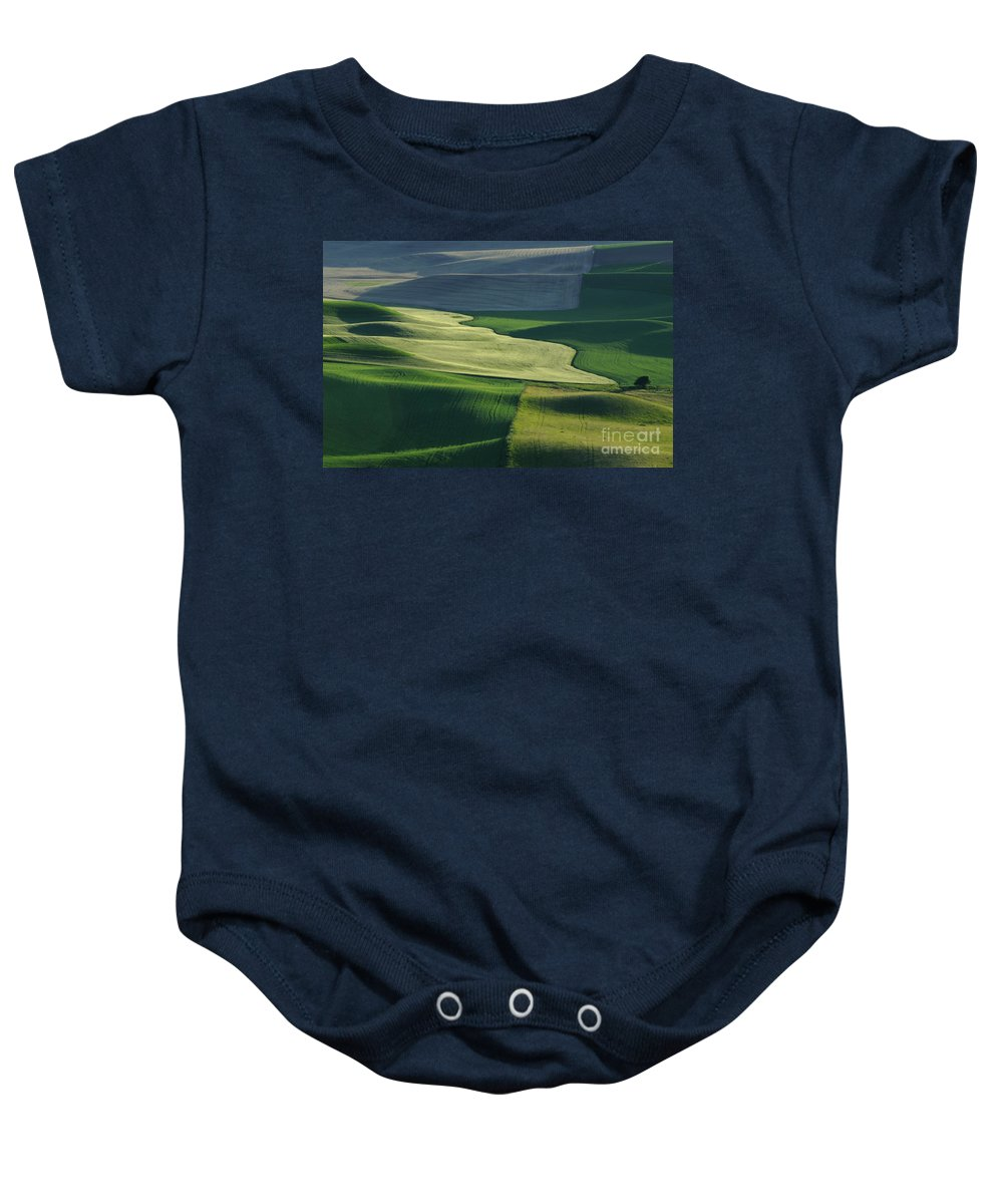 Palouse Baby Onesie featuring the photograph The Palouse 4 by Bob Christopher