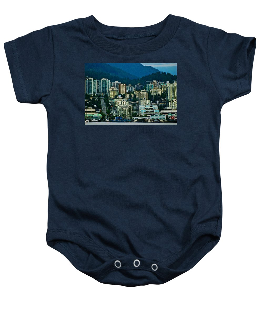 Vancouver Baby Onesie featuring the photograph Vancouver Rooms With A View by Eric Tressler