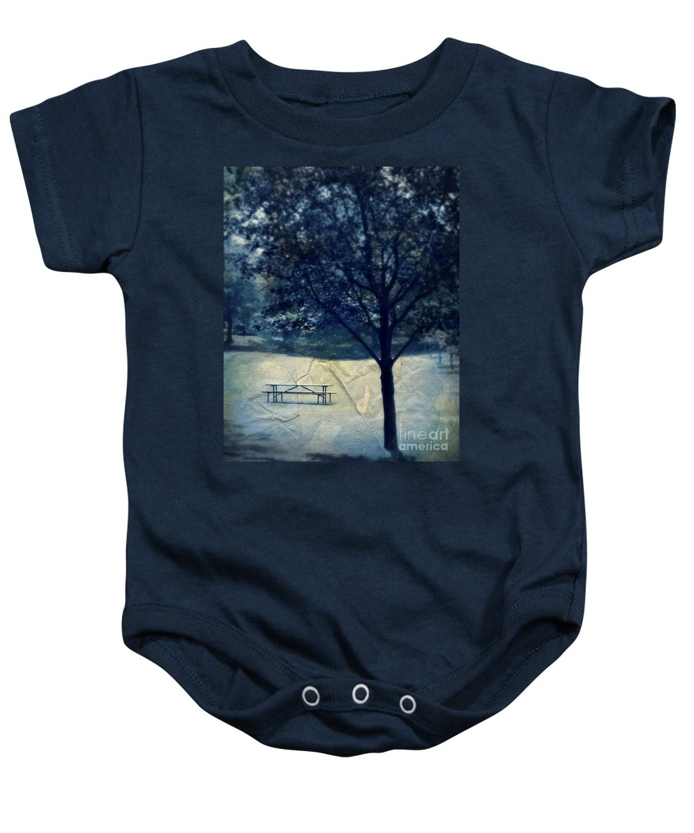 Park Baby Onesie featuring the photograph Vintage Park by Perry Webster