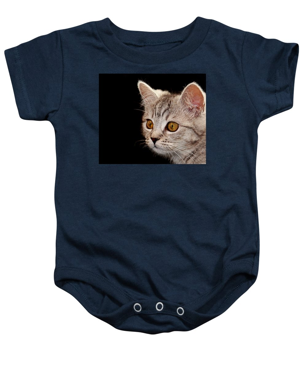 Cat Baby Onesie featuring the photograph Watching You by Claudia Moeckel