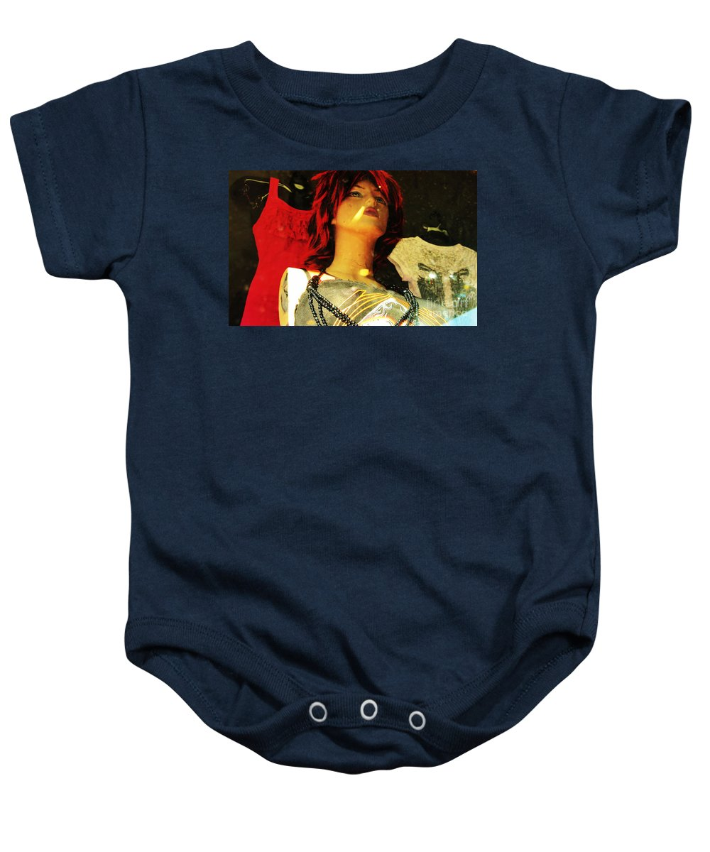 Reflections Baby Onesie featuring the photograph Window Shopper by Anthony Wilkening