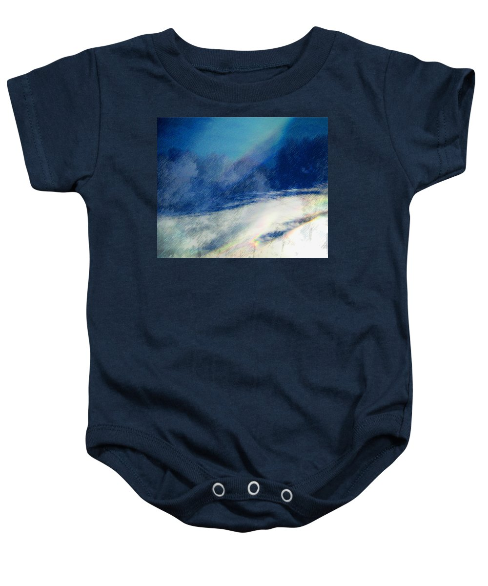 Abstract Baby Onesie featuring the photograph Winter Pastel by Lenore Senior