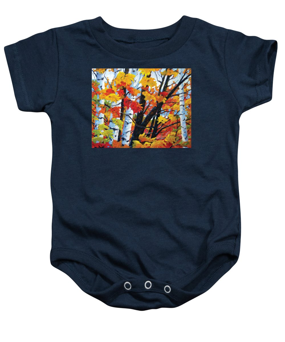 Art Baby Onesie featuring the painting A Touch Of Canada by Richard T Pranke