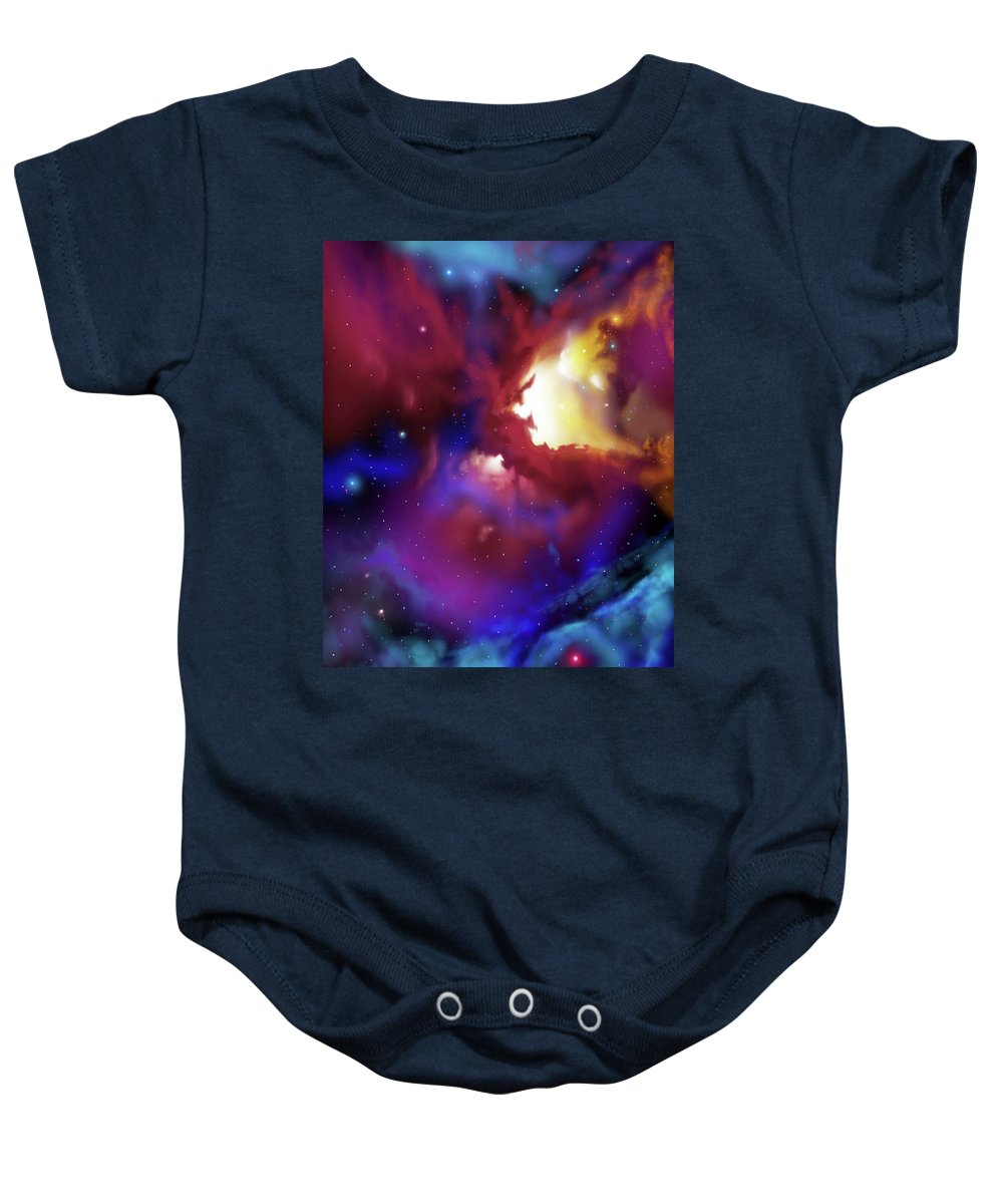 James Christopher Hill Baby Onesie featuring the painting Bat Nebula by James Christopher Hill