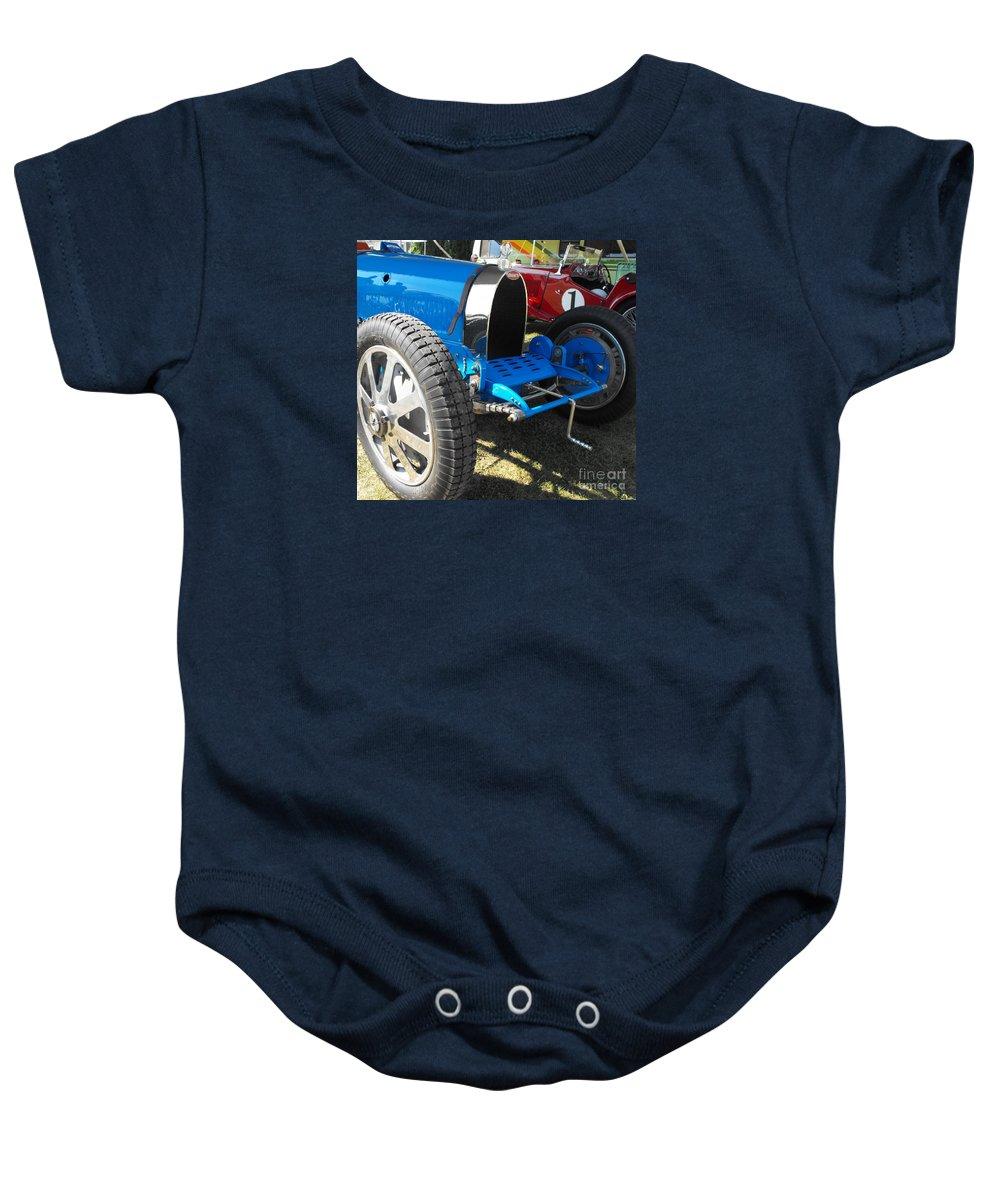 Bugatti Baby Onesie featuring the photograph Bugatti Racer by Neil Zimmerman