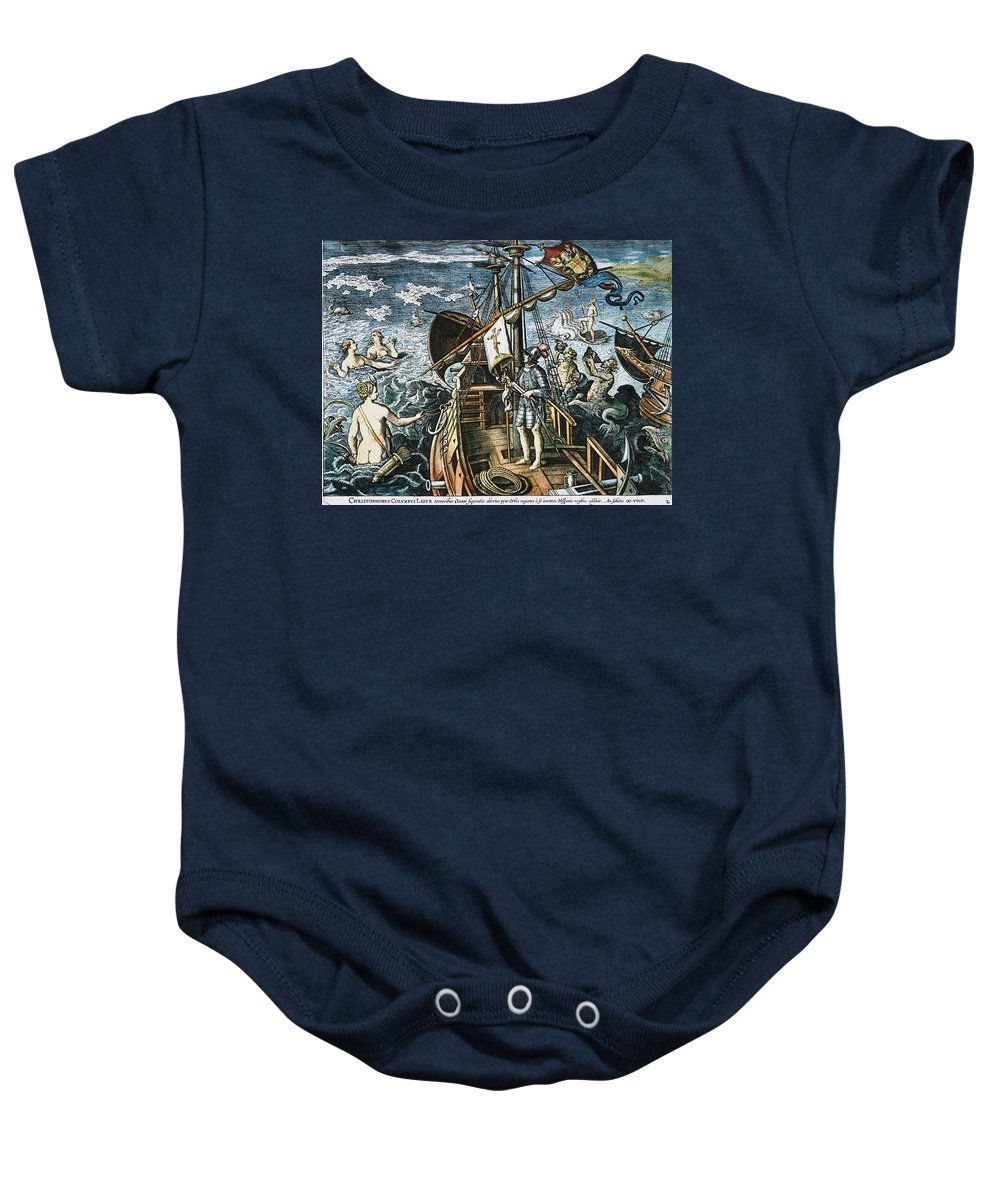 15th Century Baby Onesie featuring the photograph Christopher Columbus by Granger