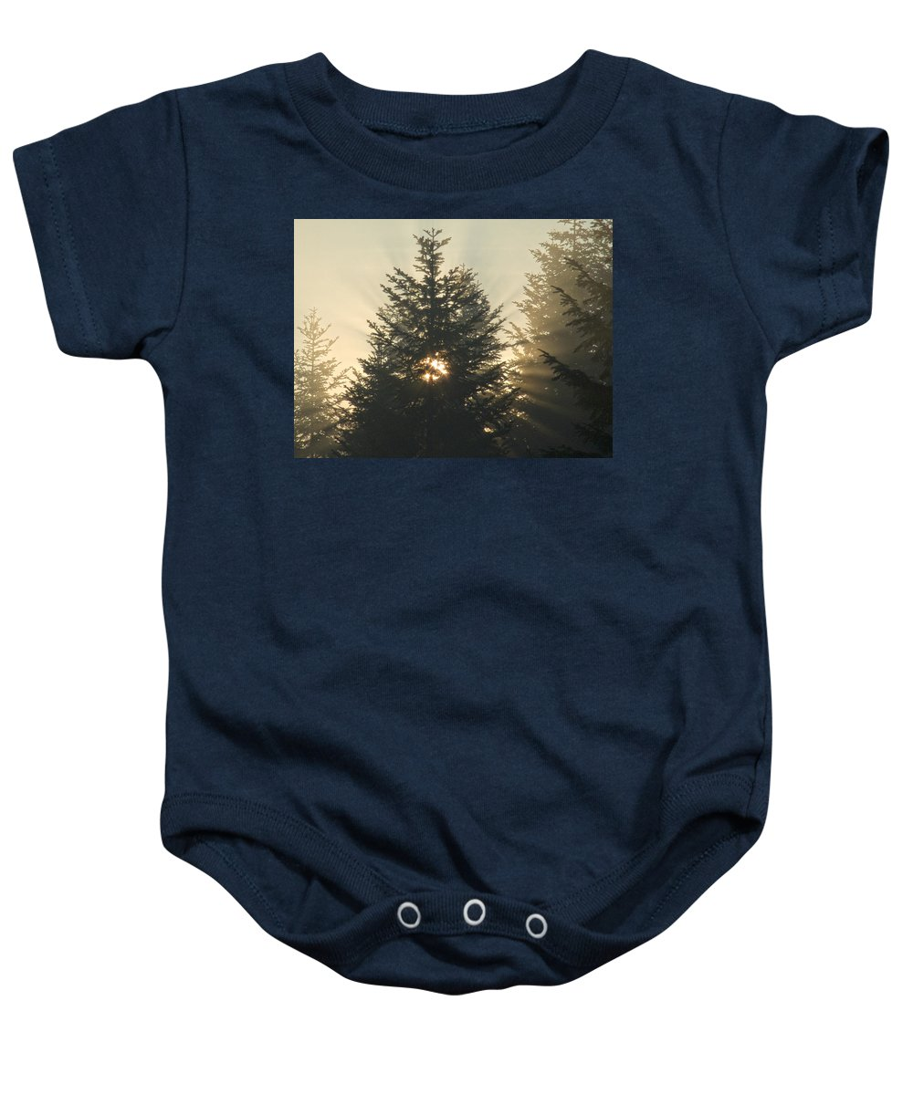 Nature Baby Onesie featuring the photograph Dawn by Daniel Csoka