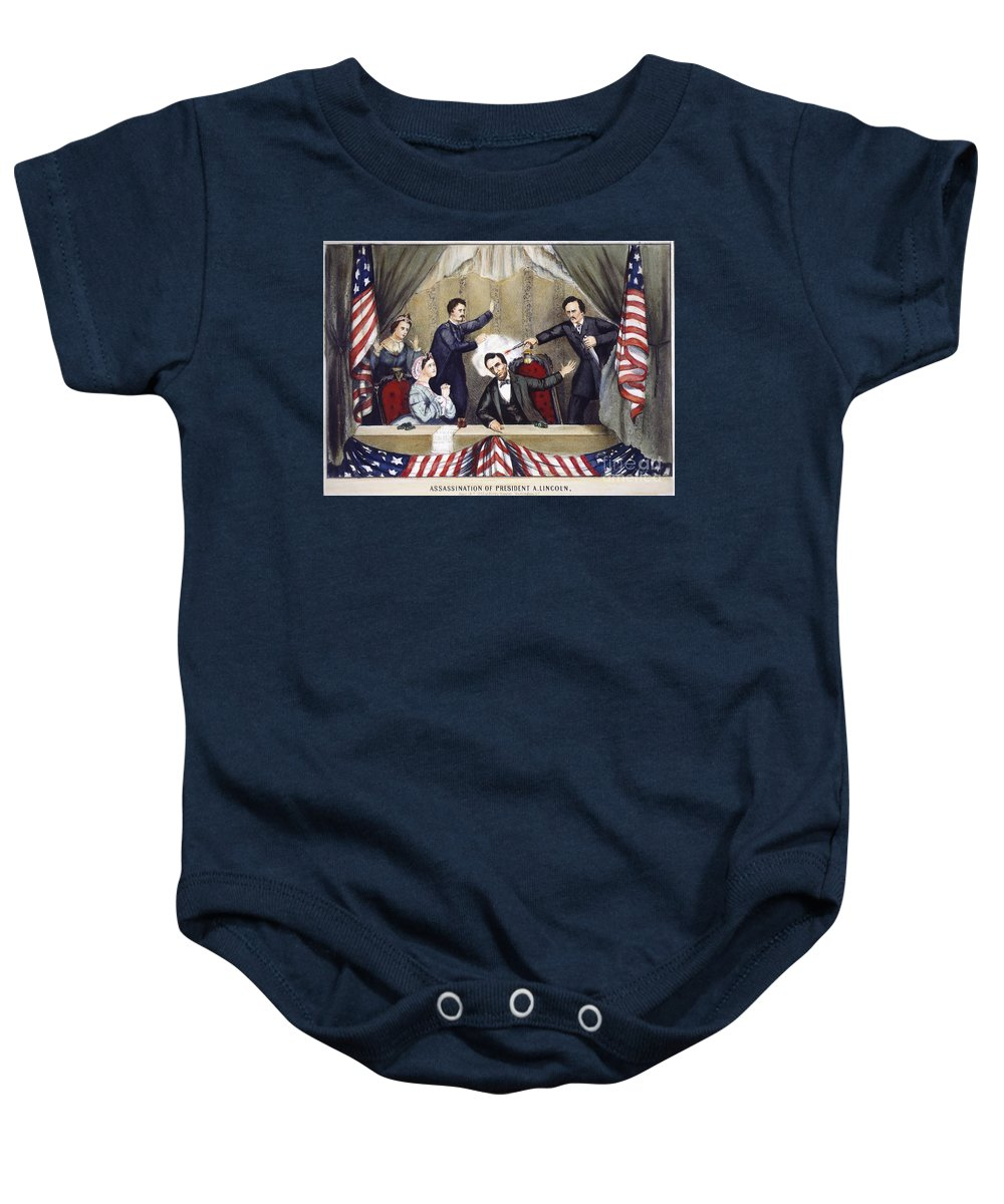 1865 Baby Onesie featuring the photograph Lincoln Assassination by Granger