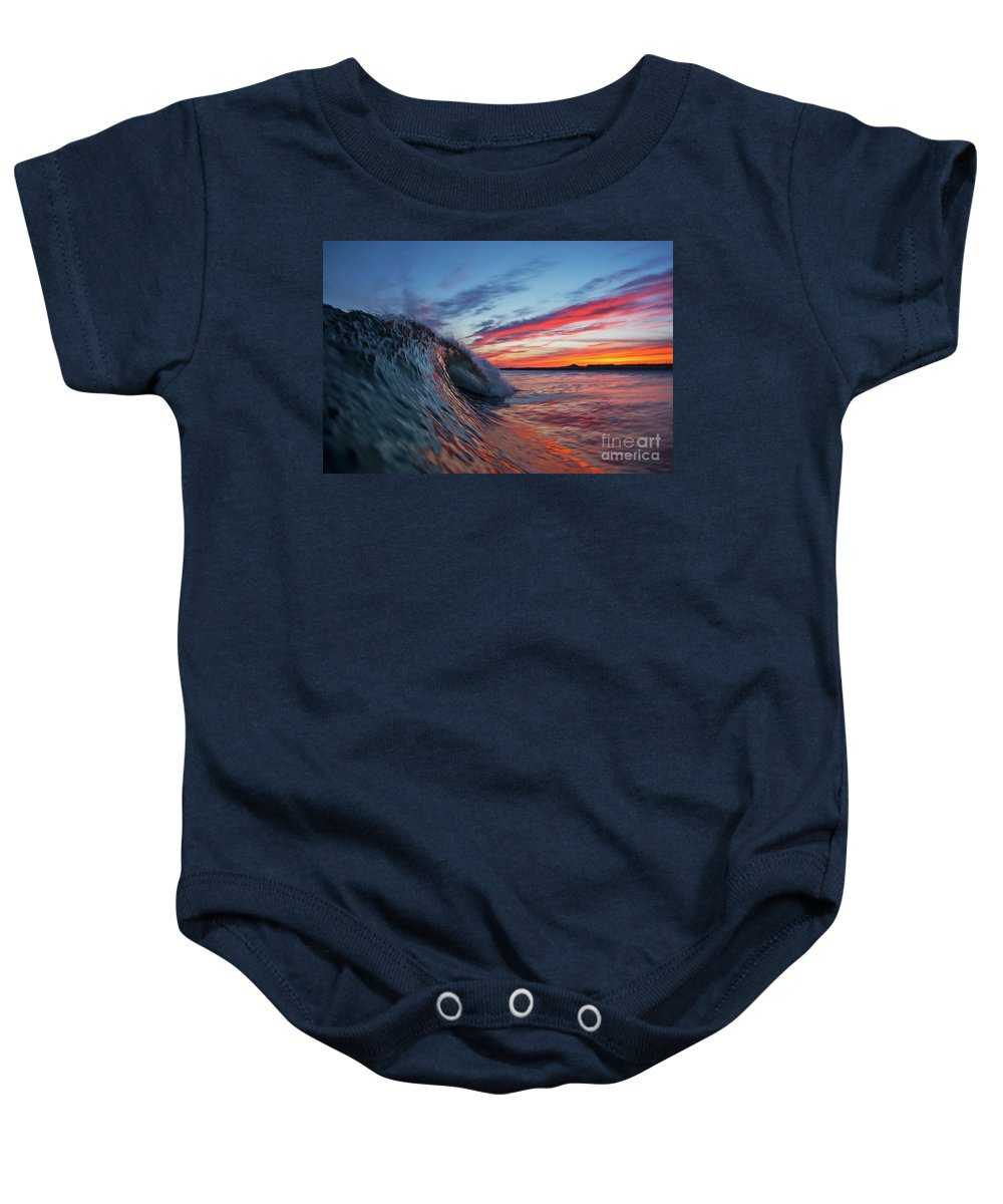 Lit Up Baby Onesie featuring the photograph Lit Up by Russ LaScala