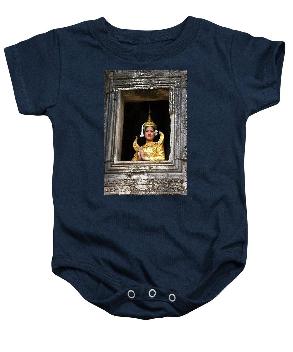 Asia Baby Onesie featuring the photograph Makala Dancer In Cambodia by Michele Burgess