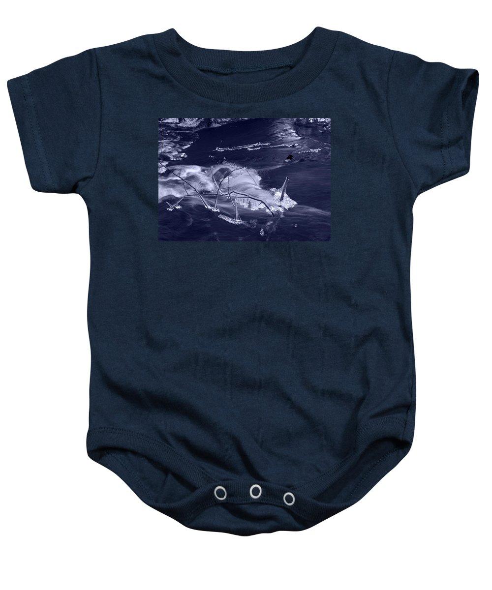 Lehtokukka Baby Onesie featuring the photograph November Creek 3 by Jouko Lehto