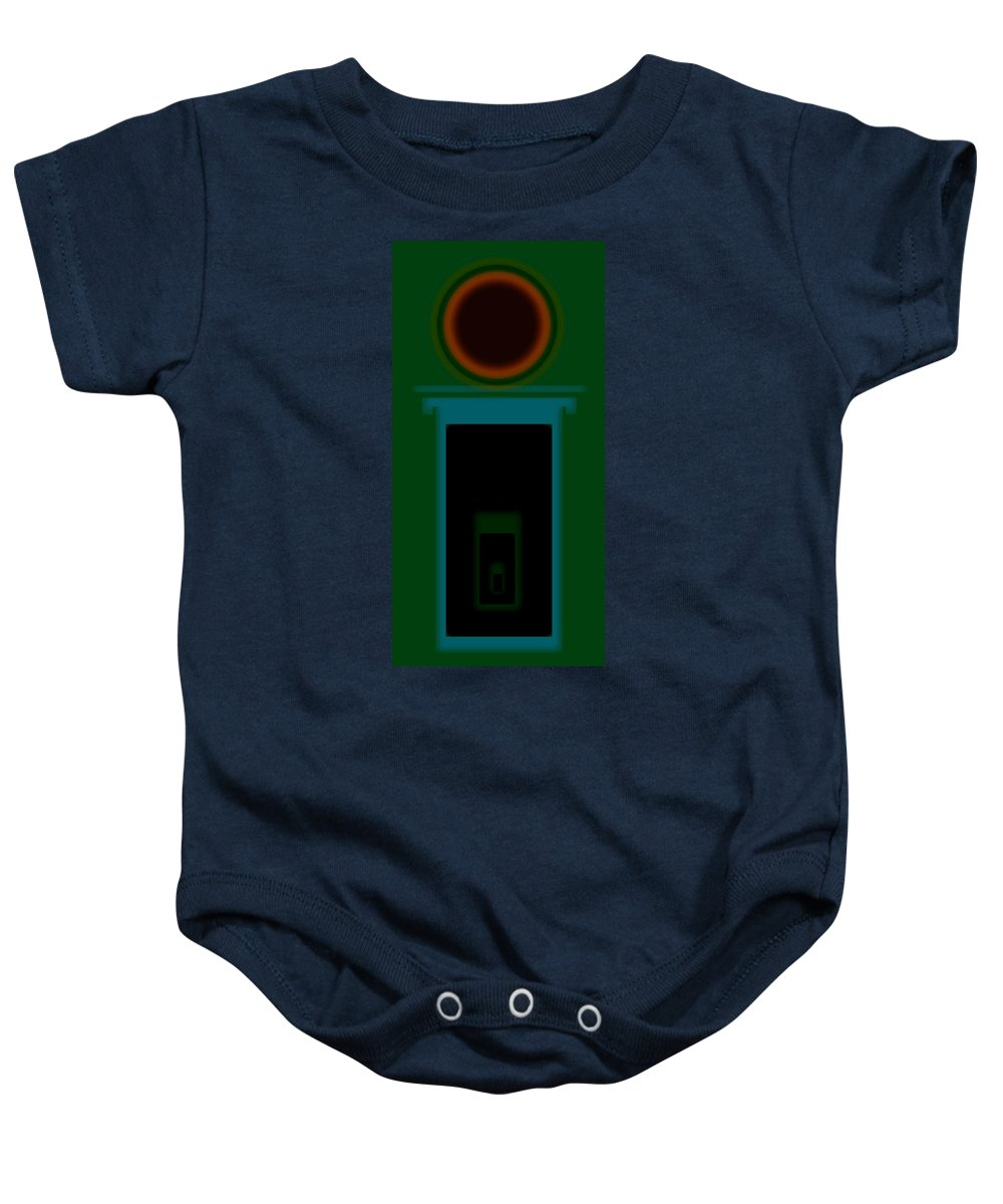 Palladian Baby Onesie featuring the painting Palladian Green by Charles Stuart