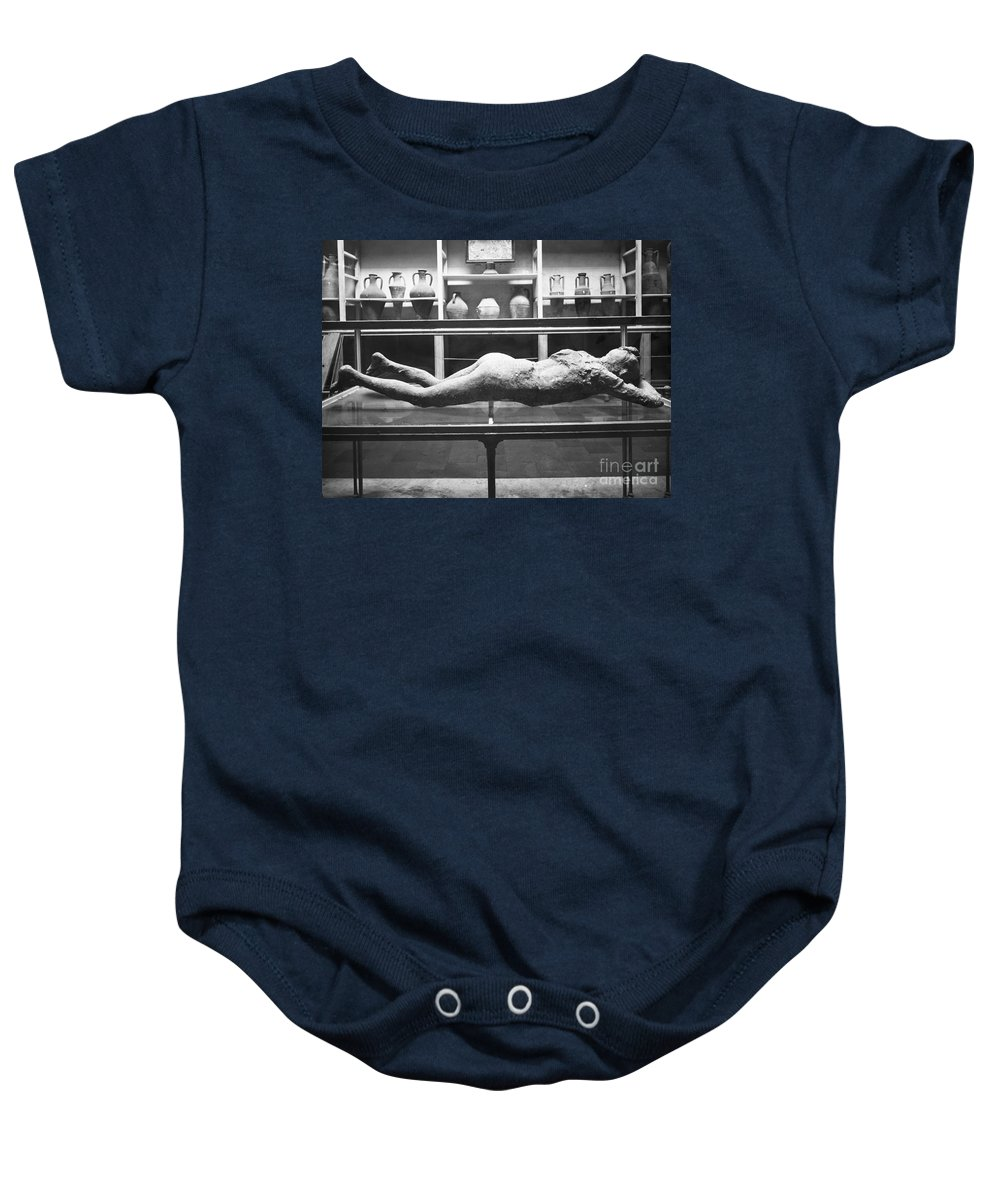1873 Baby Onesie featuring the photograph Pompeii: Plaster Cast by Granger