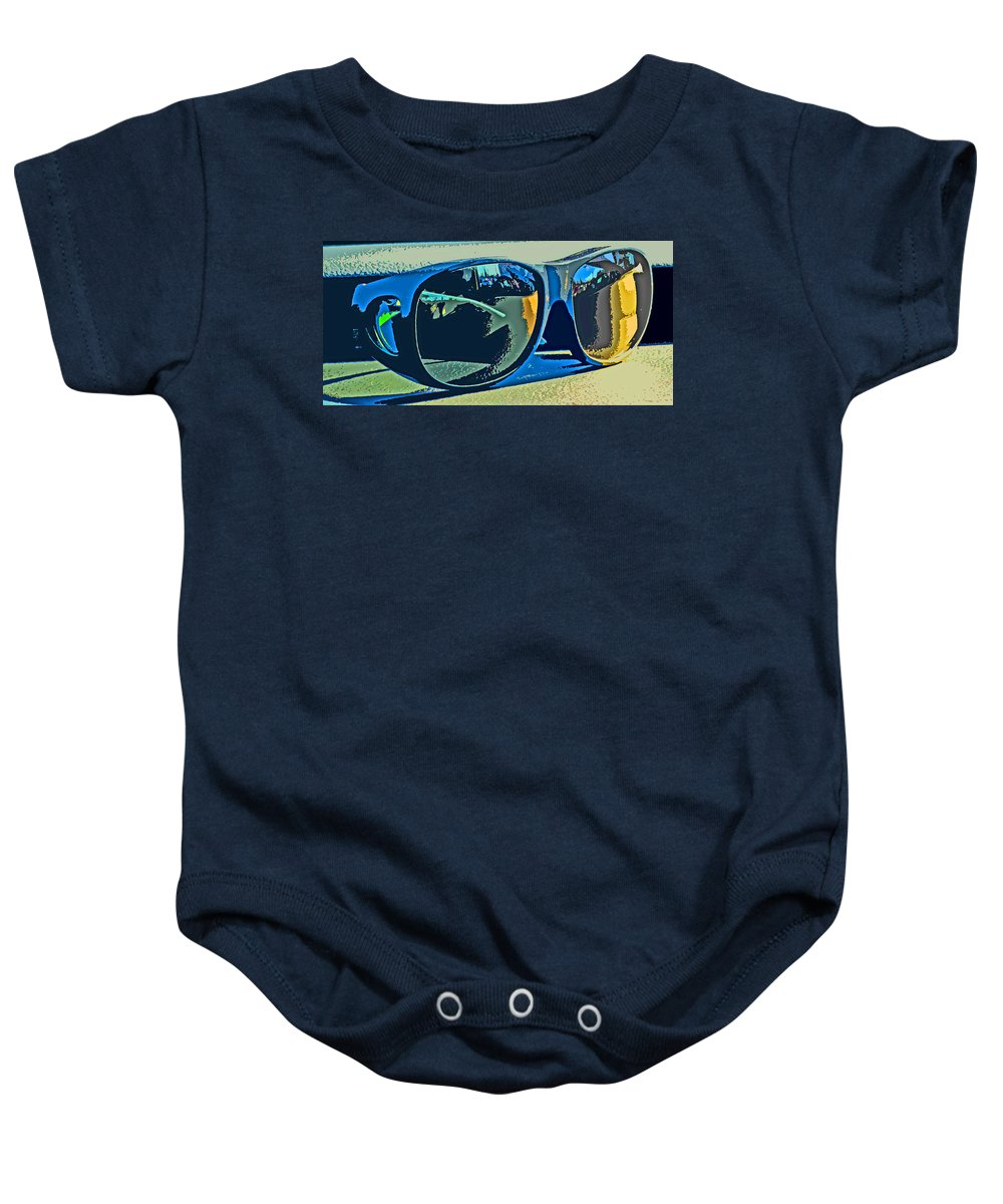 Sunglasses Baby Onesie featuring the photograph Shades by Ian MacDonald