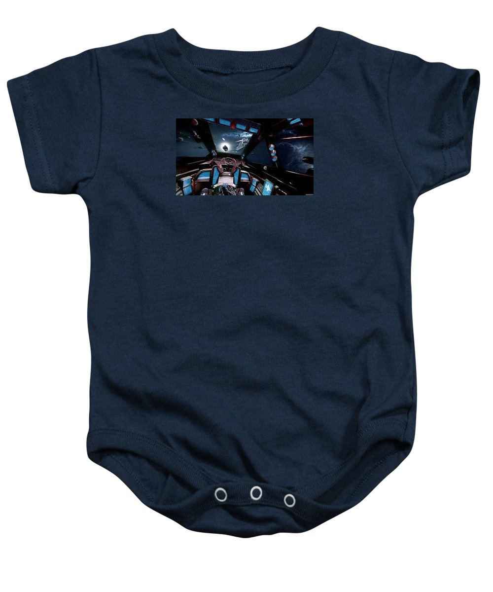 What Is Star Citizen Baby Onesie featuring the sculpture Starcitizengamepackage by StarCitizenGamePackage