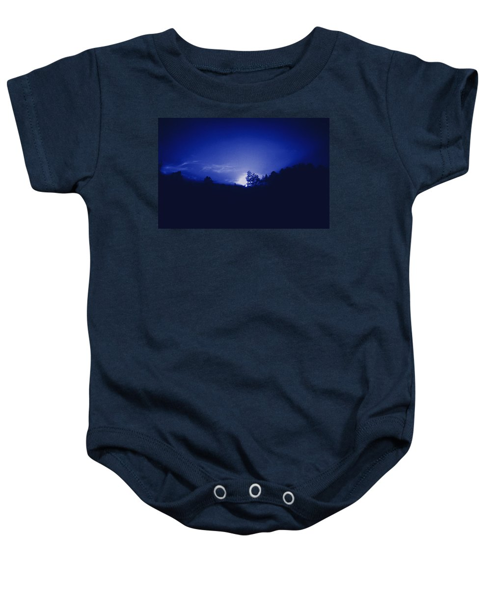 Sky Baby Onesie featuring the photograph Where The Smurfs Live 2 by Max Mullins