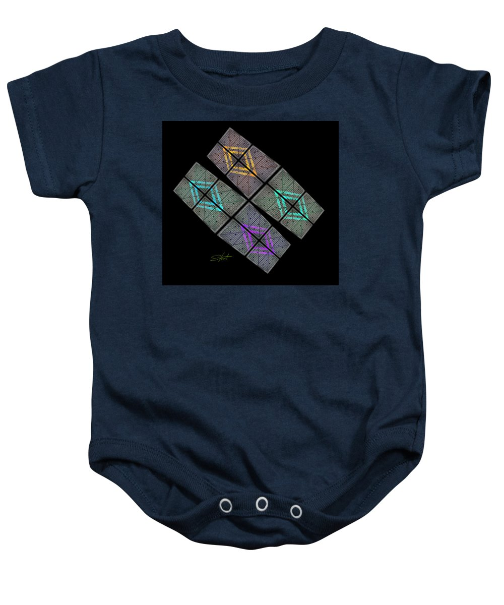 Space Baby Onesie featuring the photograph Urban Space by Charles Stuart