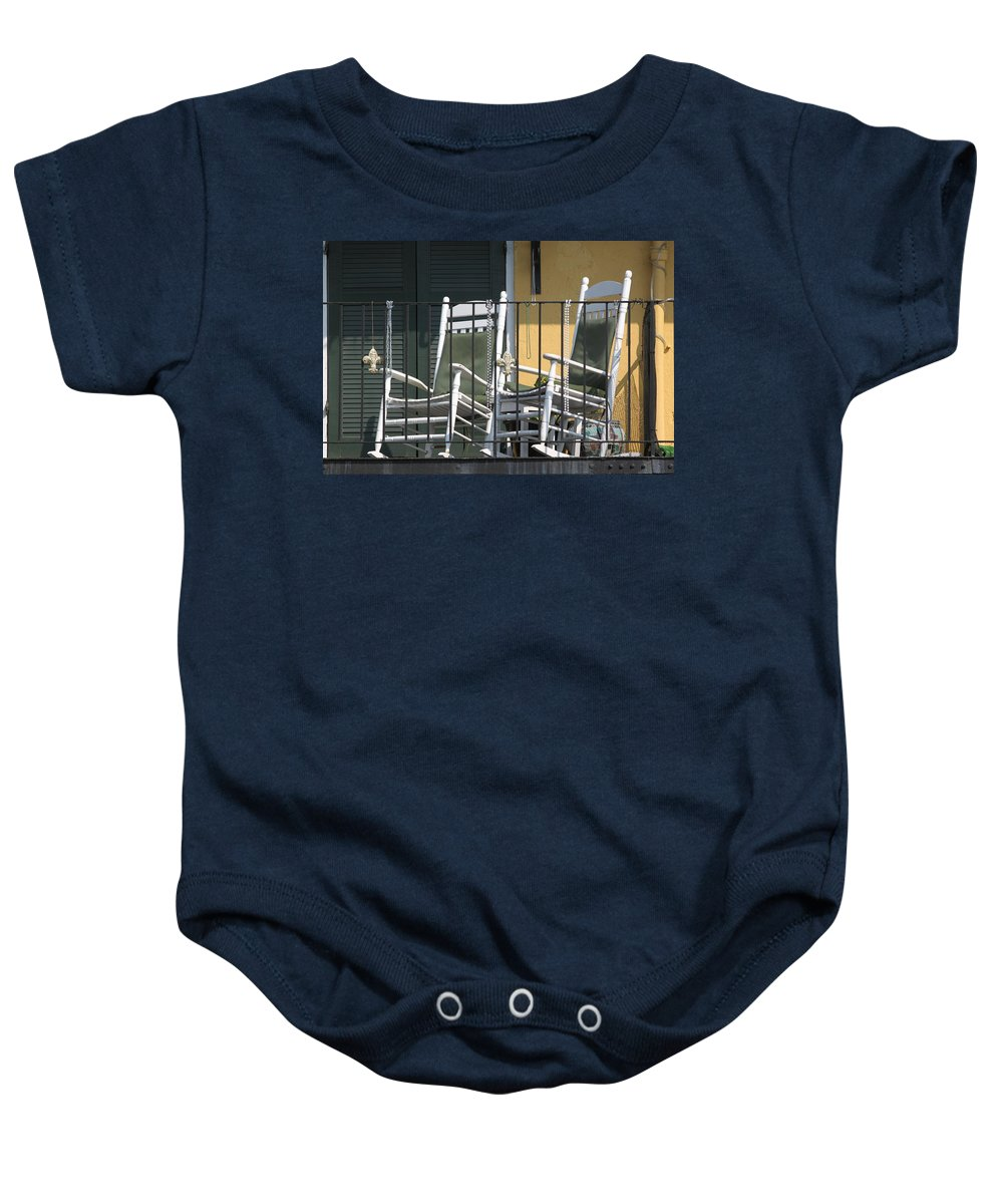 New Orleans Baby Onesie featuring the photograph Waiting For Mardi Gras by Lauri Novak