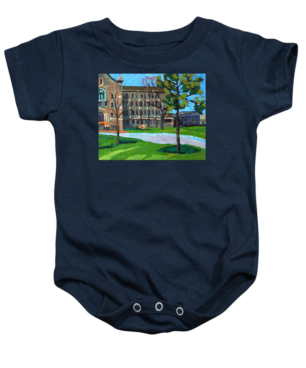 2092 Baby Onesie featuring the painting 1000 Islands Village by Phil Chadwick