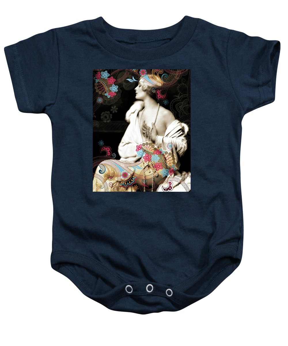 Nostalgic Seduction Baby Onesie featuring the photograph Goddess by Chris Andruskiewicz