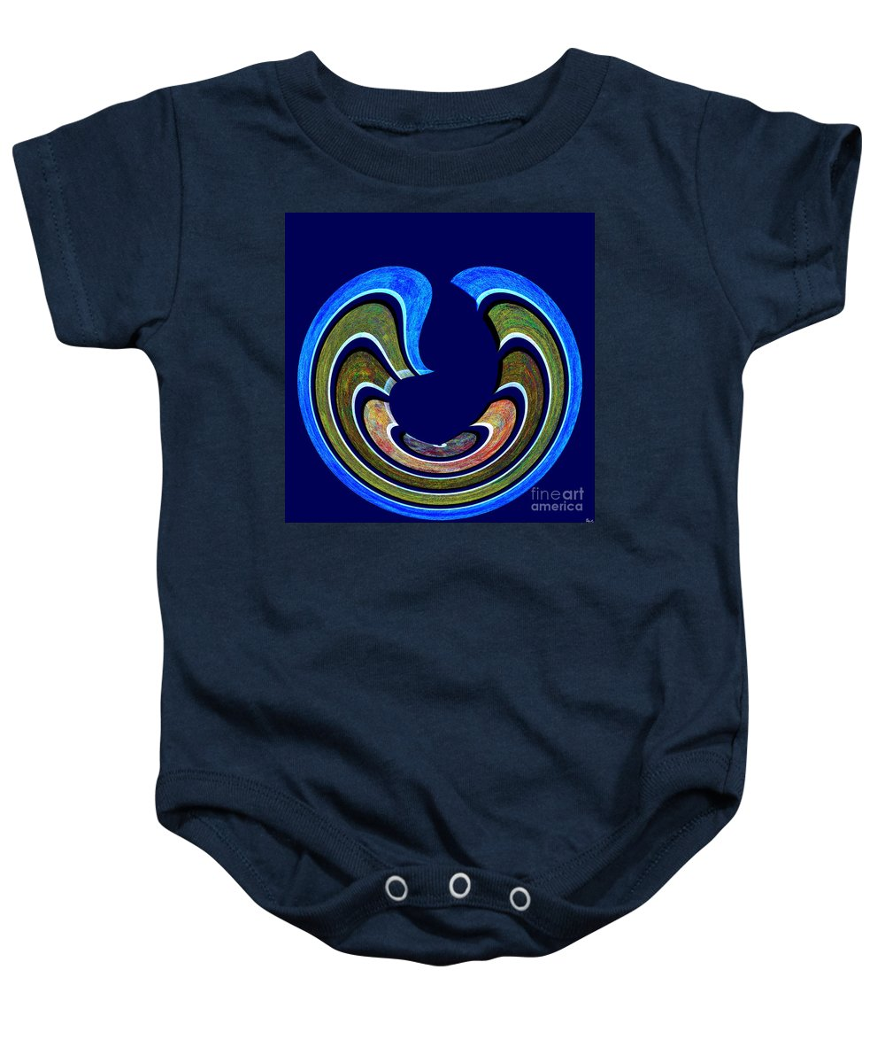 Abstract Baby Onesie featuring the digital art 1408 Abstract Thought by Chowdary V Arikatla