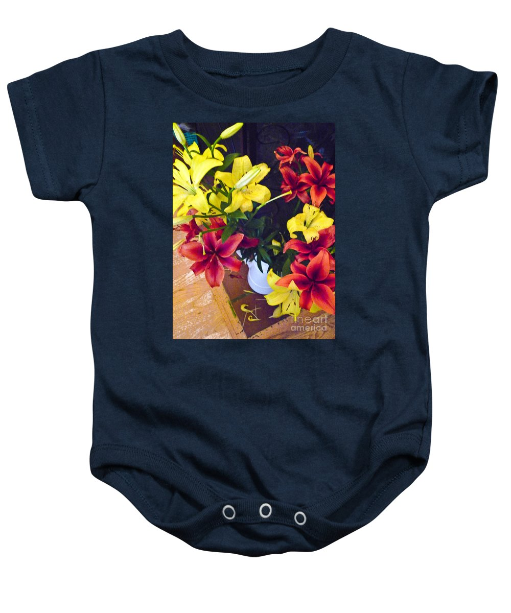 Blossoms Baby Onesie featuring the photograph 14pdxl126 by Howard Stapleton