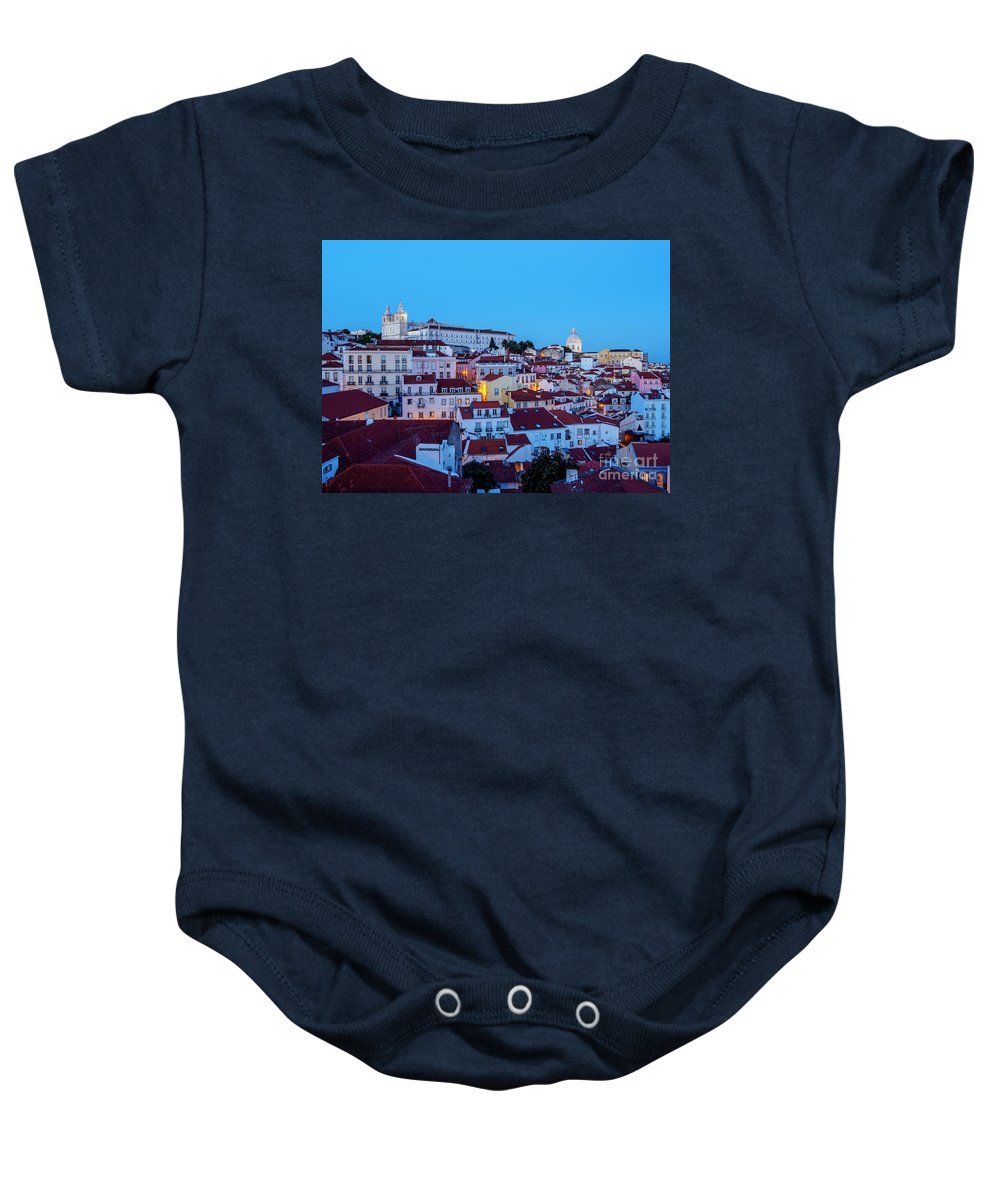 Alfama Baby Onesie featuring the photograph Lisbon, Portugal by Karol Kozlowski