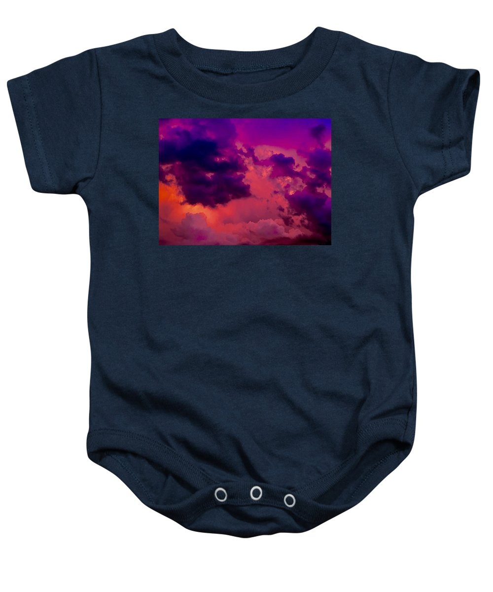 Clouds Baby Onesie featuring the photograph Clouds by Monica Liptak