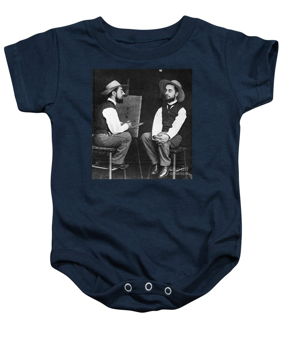 19th Century Baby Onesie featuring the photograph Henri De Toulouse-lautrec by Granger