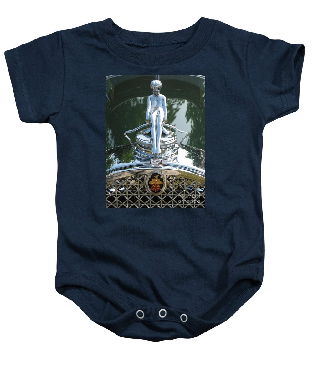 Packard Baby Onesie featuring the photograph Packard Hood Ornament by Neil Zimmerman