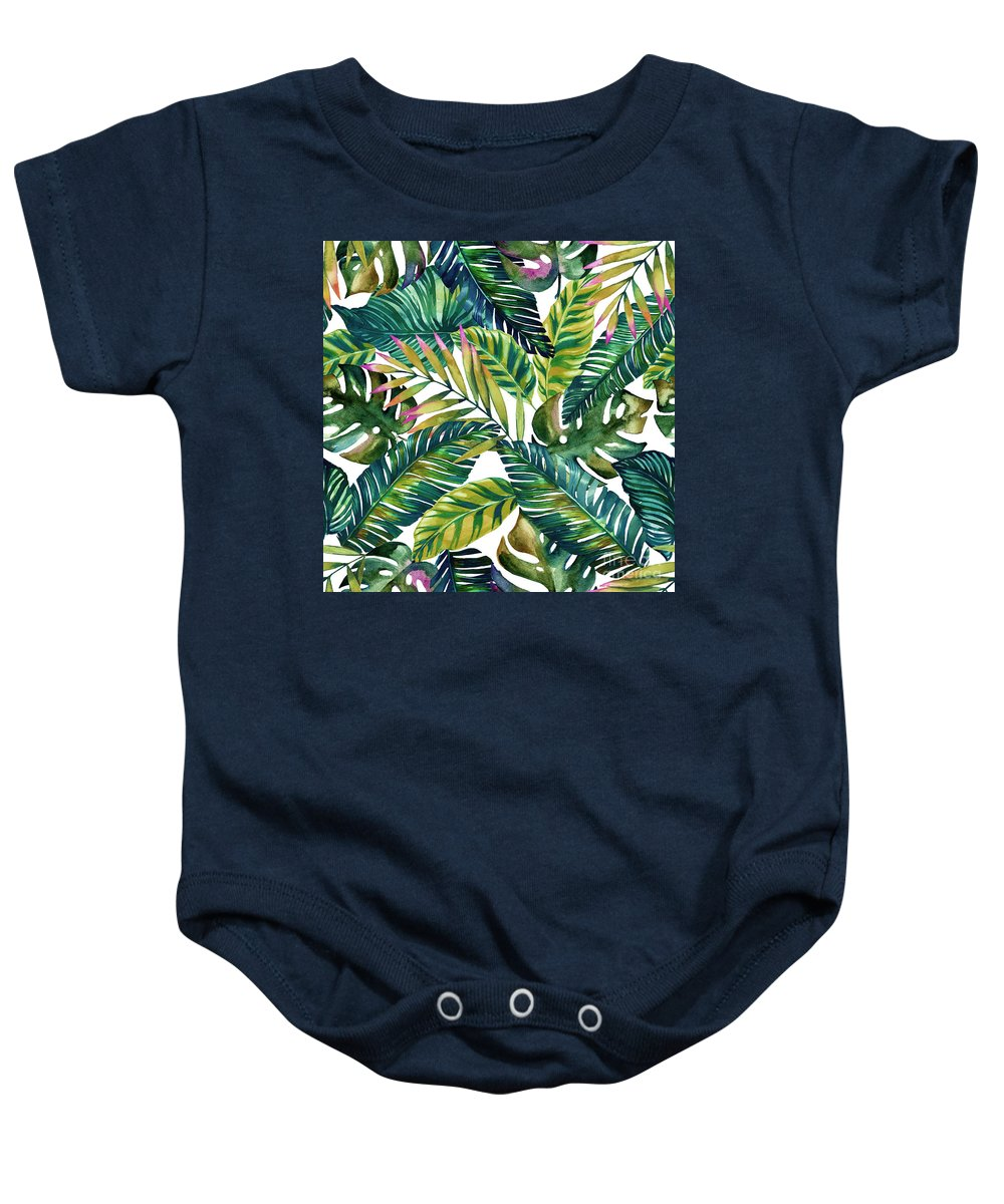 Summer Baby Onesie featuring the photograph Tropical by Mark Ashkenazi
