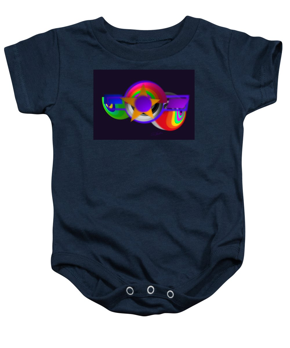 Usaaf Baby Onesie featuring the painting 21st Century Airforce by Charles Stuart
