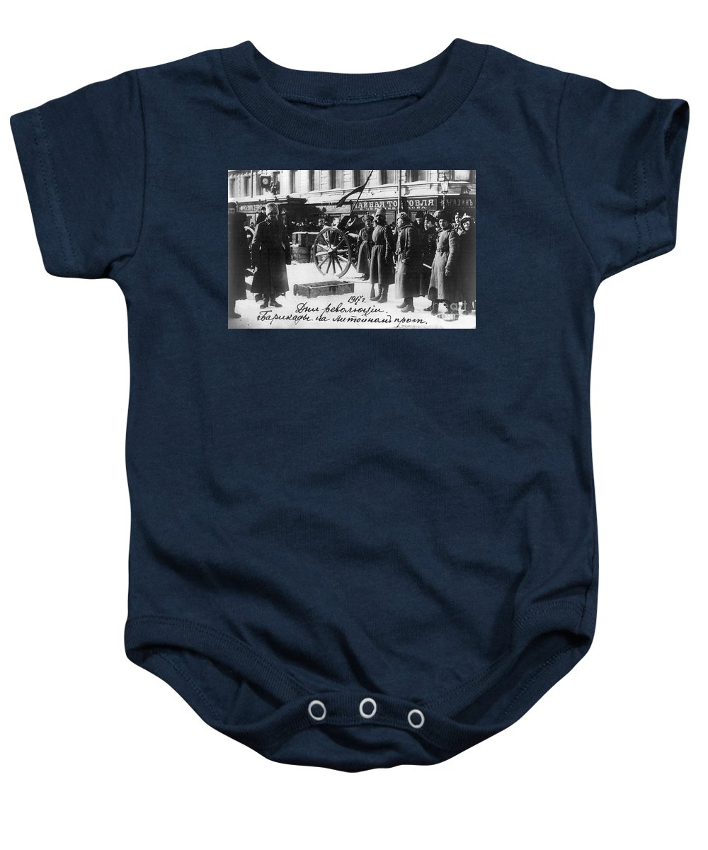 1917 Baby Onesie featuring the photograph Russian Revolution, 1917 by Granger