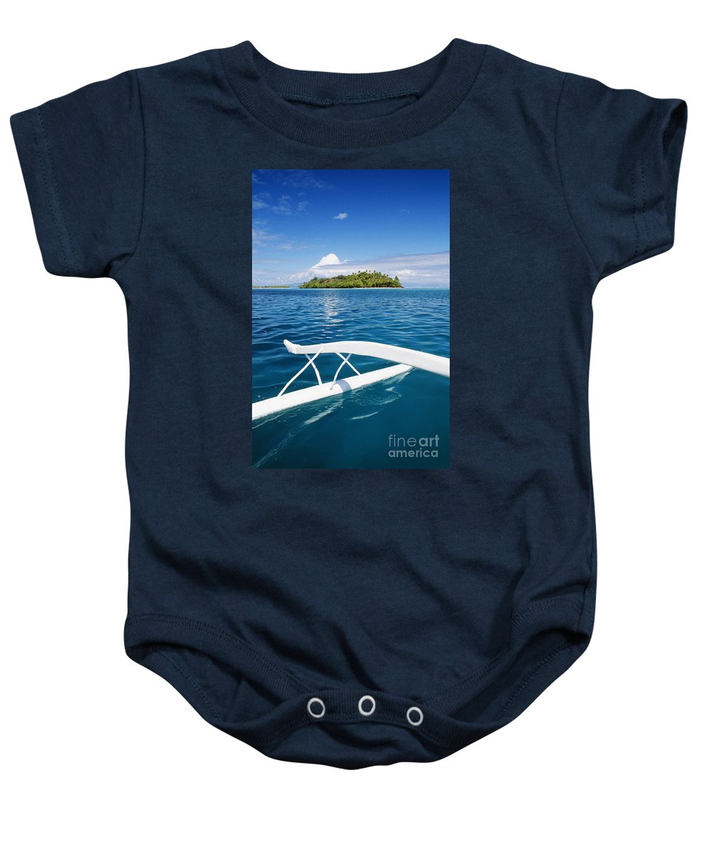 Afternoon Baby Onesie featuring the photograph View Of Tahiti by Joe Carini - Printscapes
