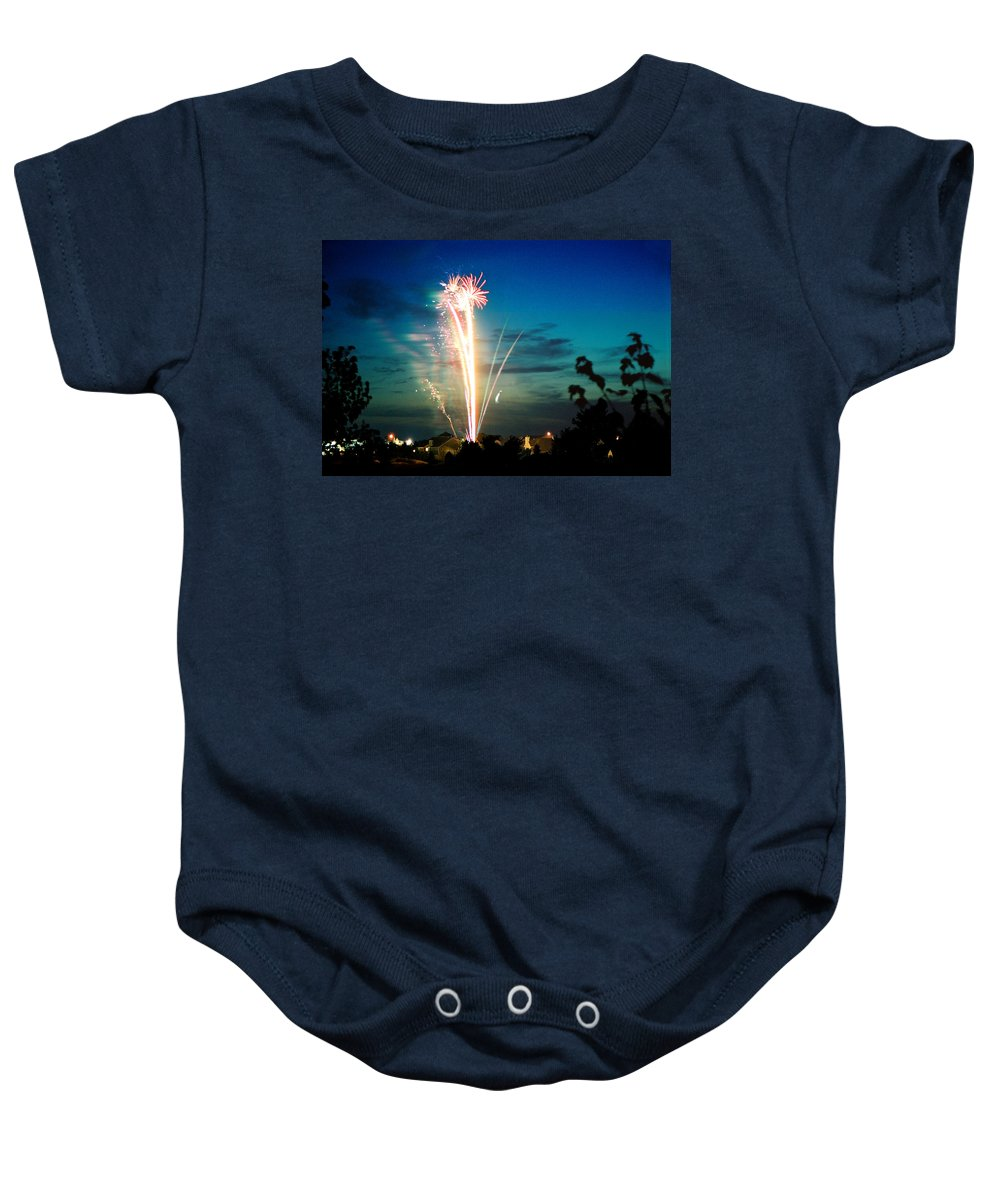 Landscape Baby Onesie featuring the photograph 4rth Of July by Steve Karol