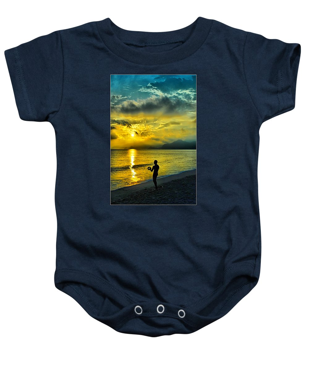 Baby Onesie featuring the photograph Sunshine At Puerto Cabello by Galeria Trompiz
