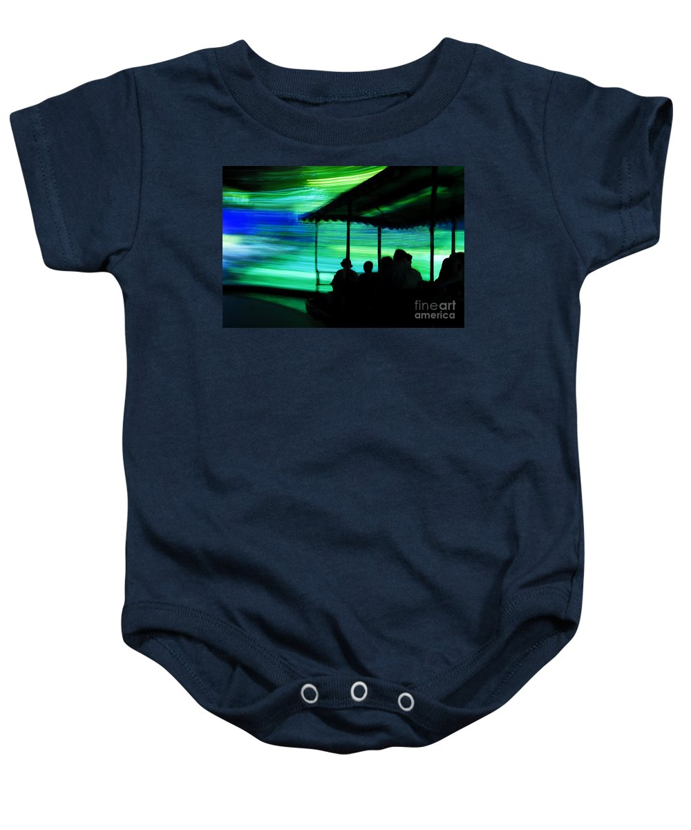 Time Travel Baby Onesie featuring the photograph A Boat Ride Through Time by David Lee Thompson