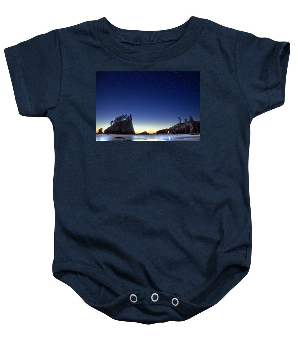 Landscape Baby Onesie featuring the photograph A Night For Stargazing by William Freebilly photography