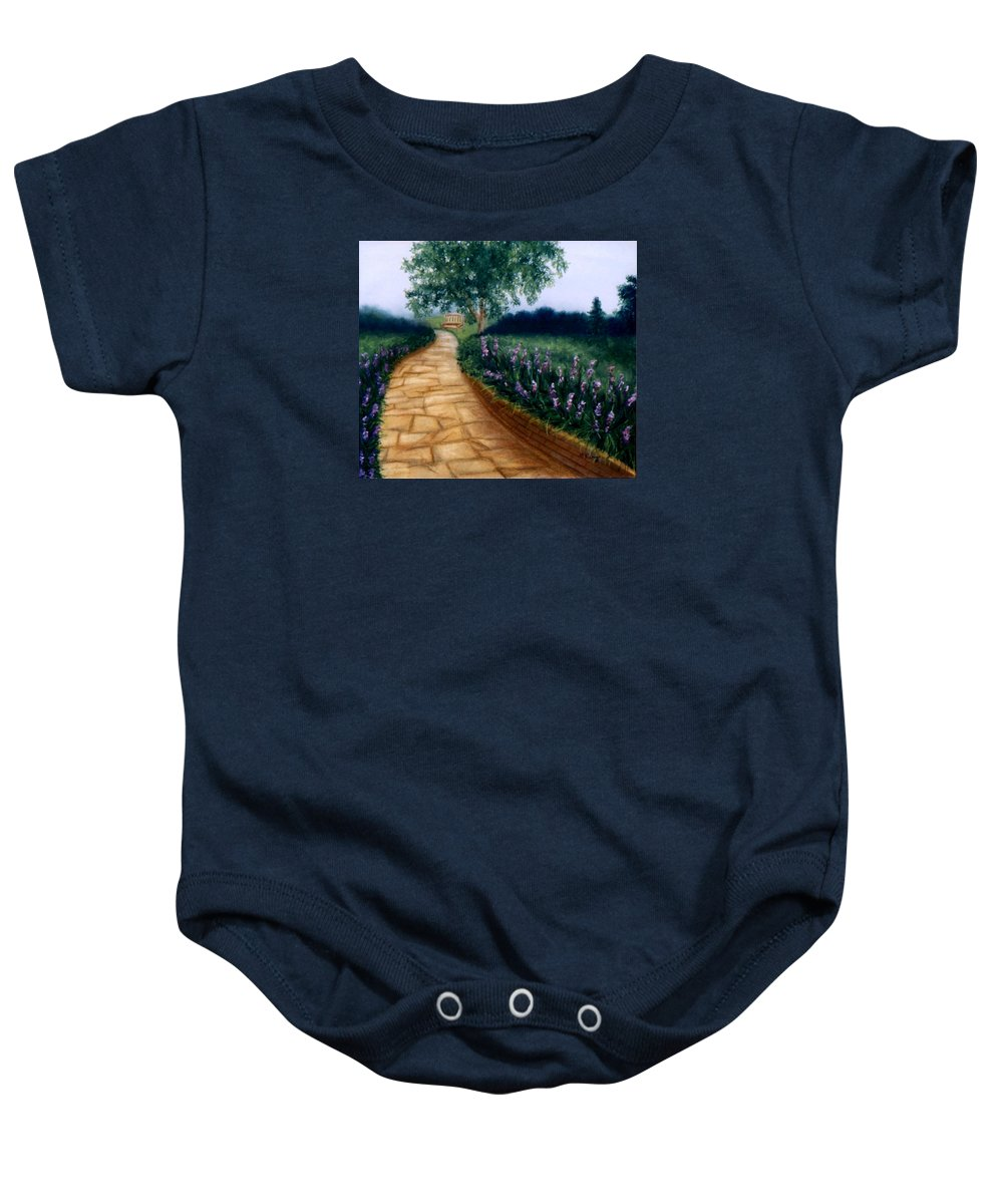 Landscape Baby Onesie featuring the painting A Quiet Place by Melissa Joyfully