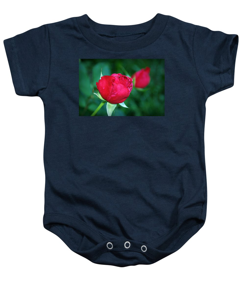 Rose Baby Onesie featuring the photograph A Rose By Any Other Name by Cricket Hackmann